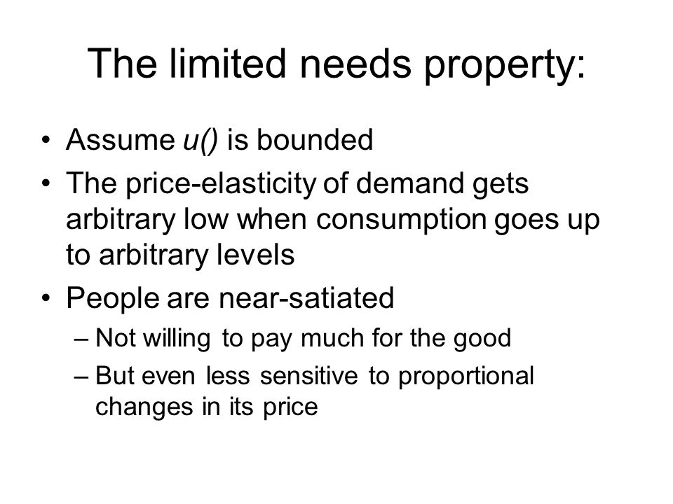 The limited needs property: