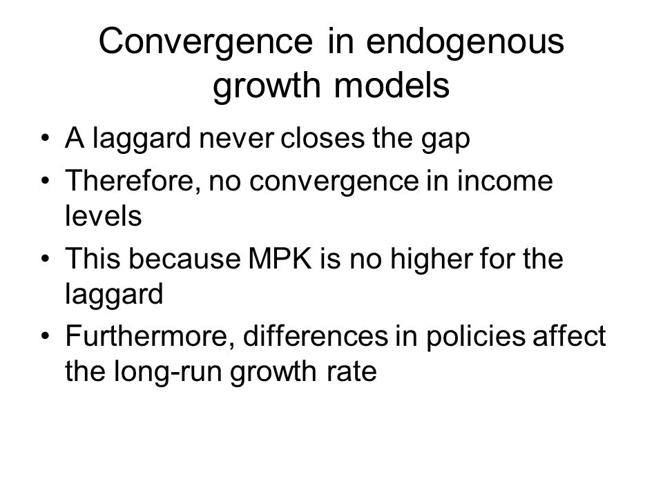 Convergence in endogenous growth models