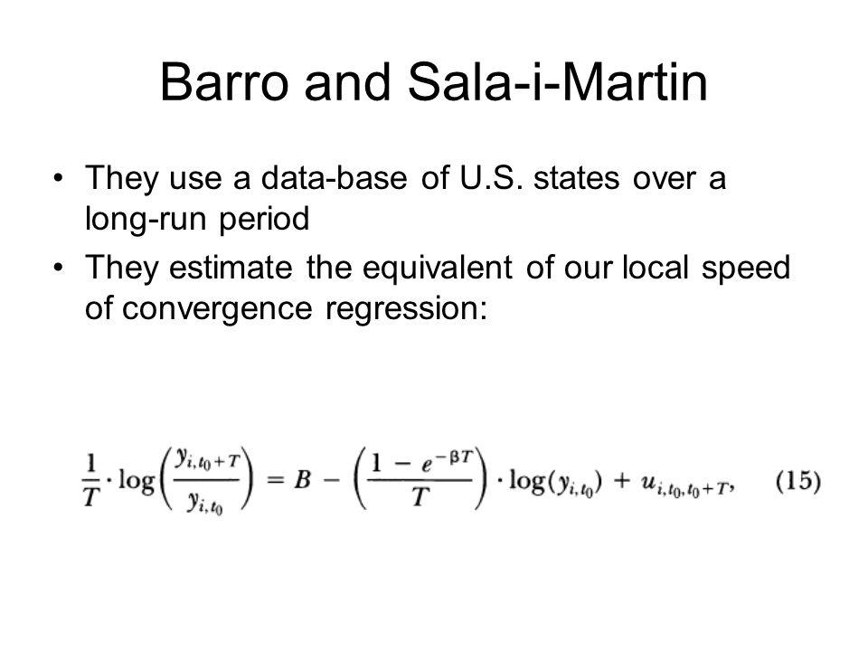 Barro and Sala-i-Martin