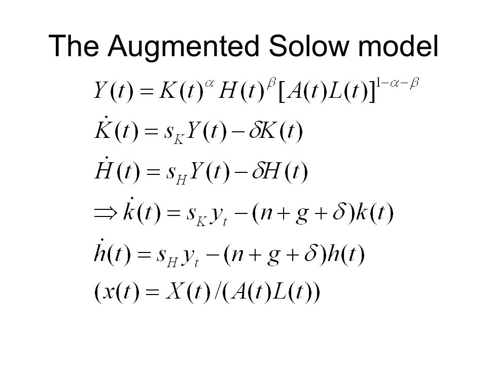 The Augmented Solow model