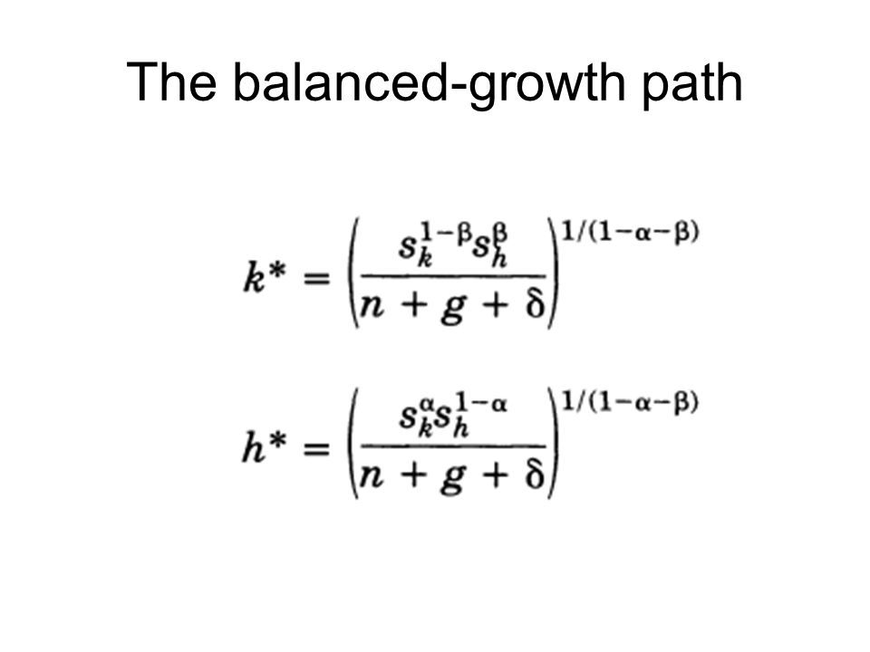 The balanced-growth path