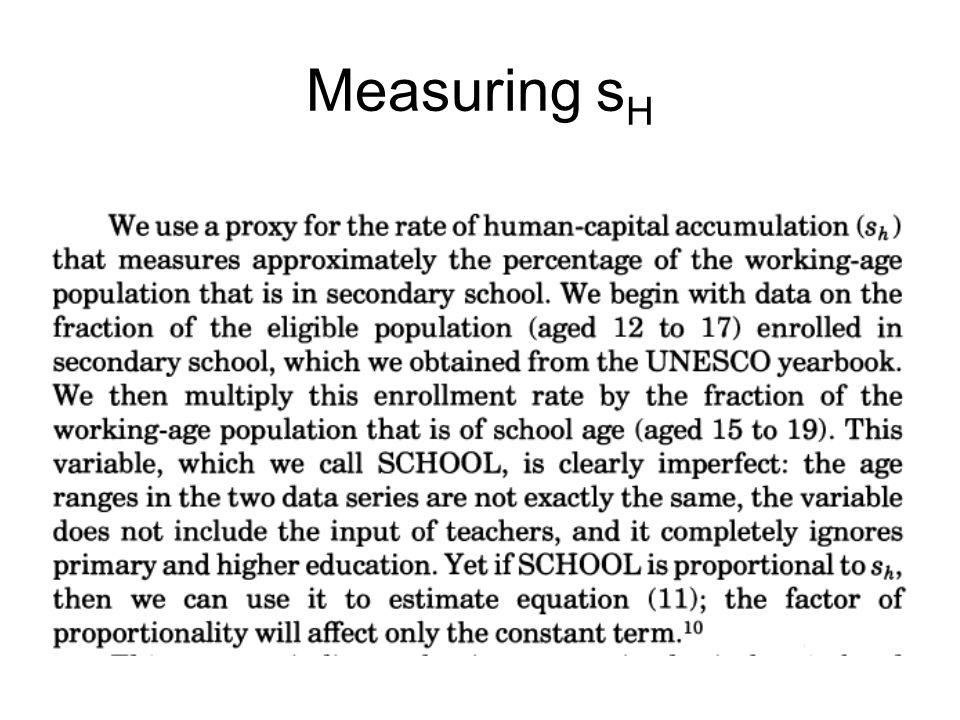 Measuring sH