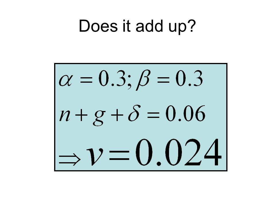 Does it add up