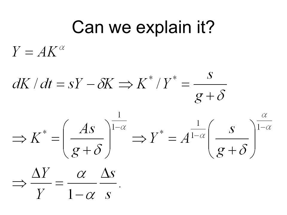 Can we explain it