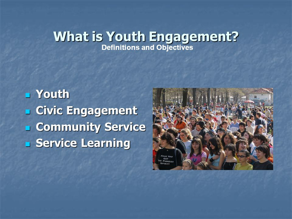 What is Youth Engagement