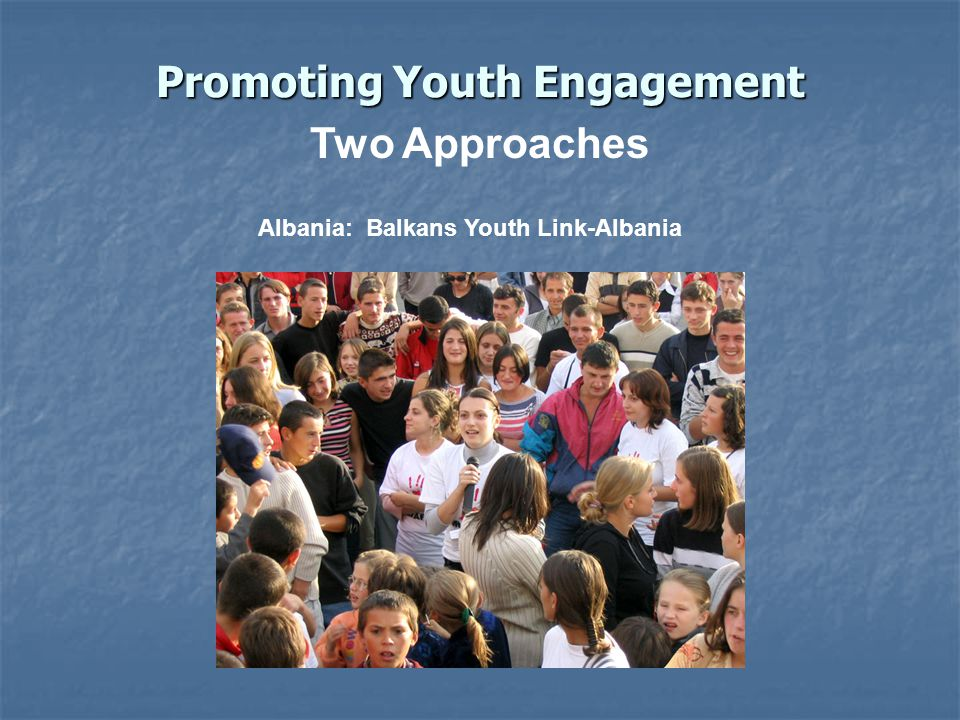 Promoting Youth Engagement