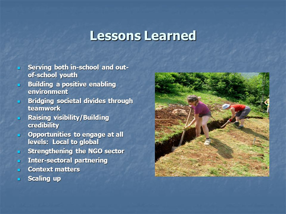 Lessons Learned Serving both in-school and out-of-school youth