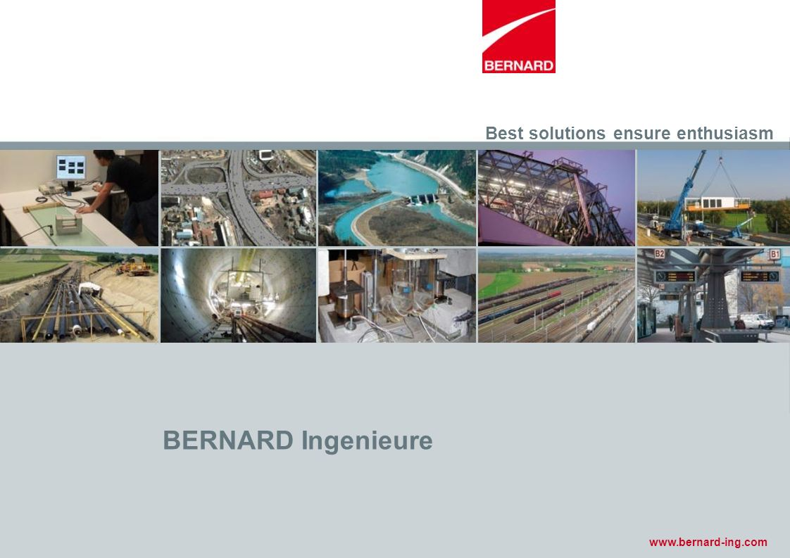 BERNARD Ingenieure Best solutions ensure enthusiasm