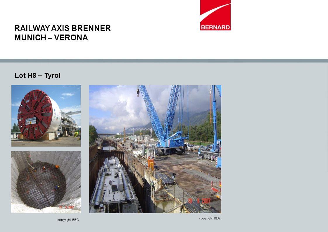 RAILWAY AXIS BRENNER MUNICH – VERONA