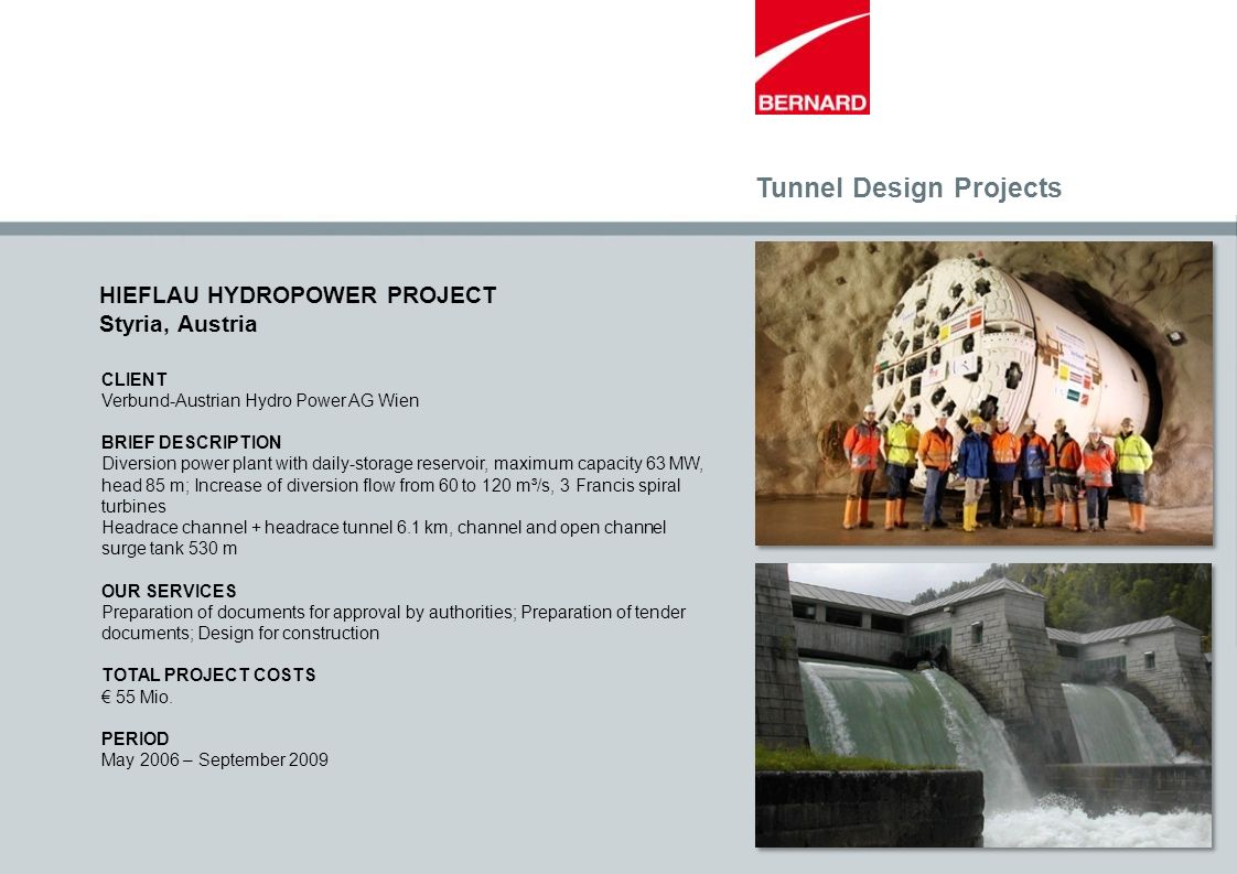 Tunnel Design Projects