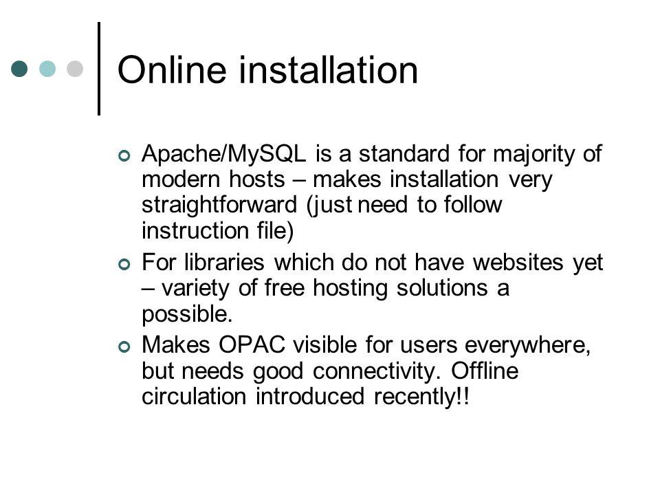 Online installation