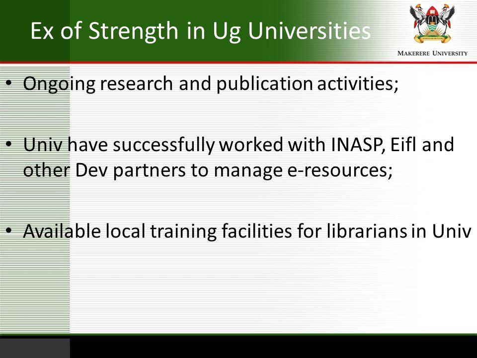 Ex of Strength in Ug Universities