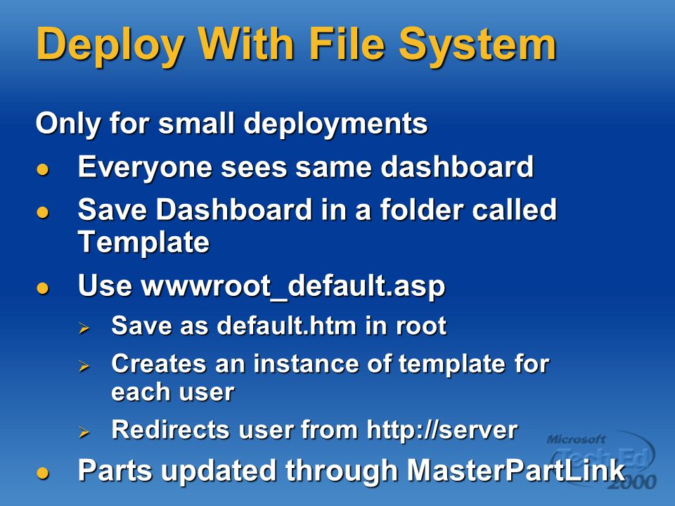 Deploy With File System