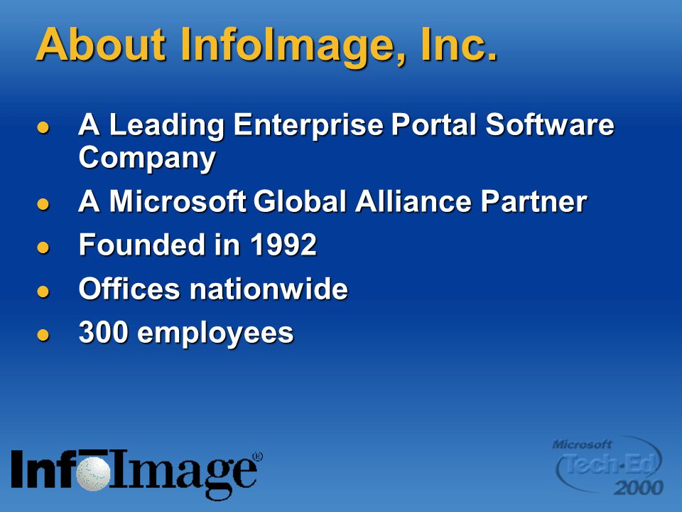 About InfoImage, Inc. A Leading Enterprise Portal Software Company