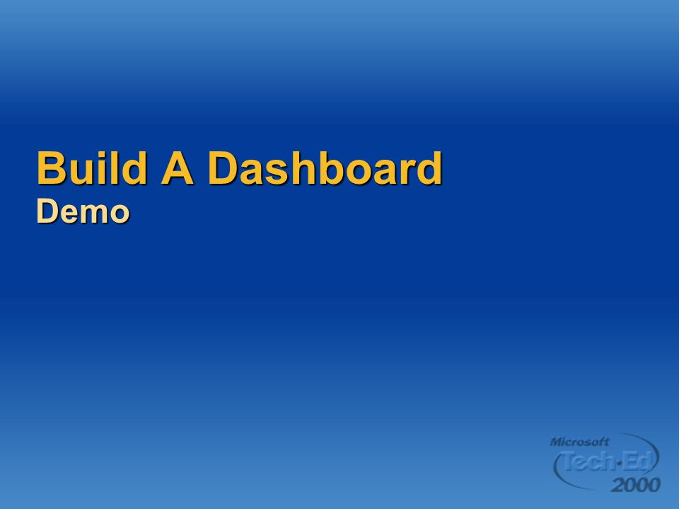 Build A Dashboard Demo