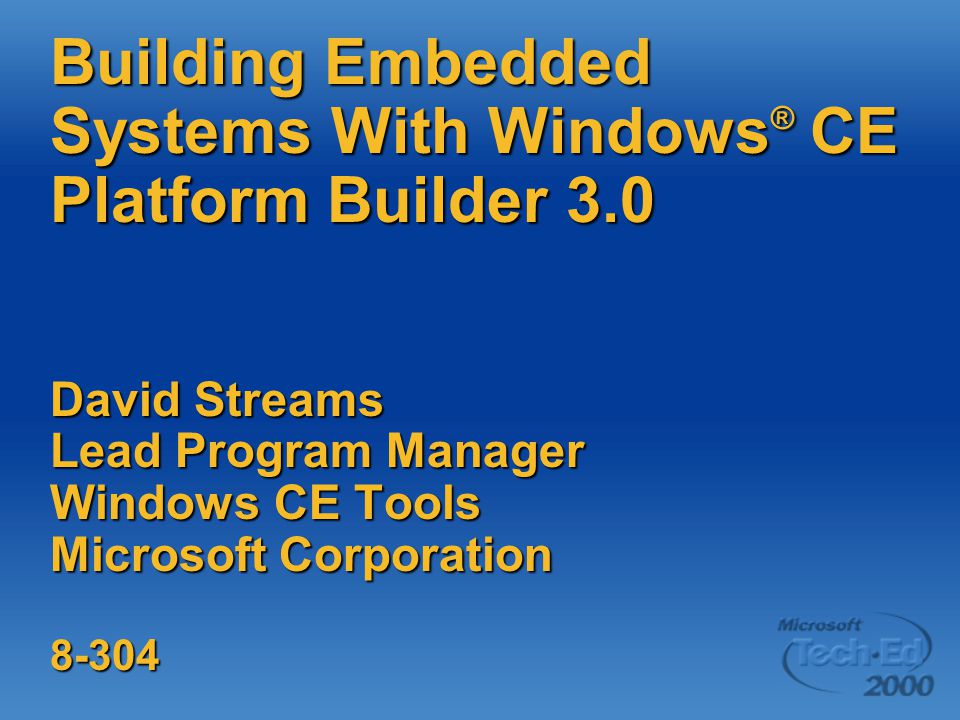 Building Embedded Systems With Windows® CE Platform Builder 3