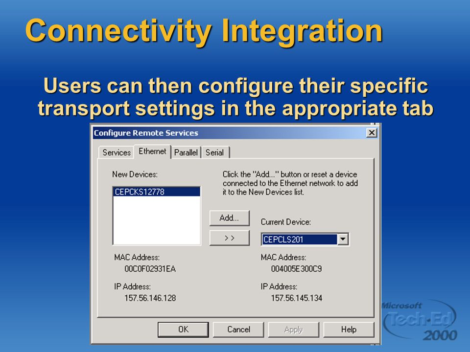 Connectivity Integration