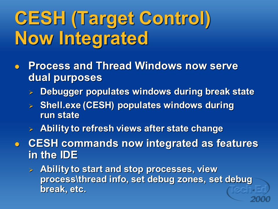 CESH (Target Control) Now Integrated