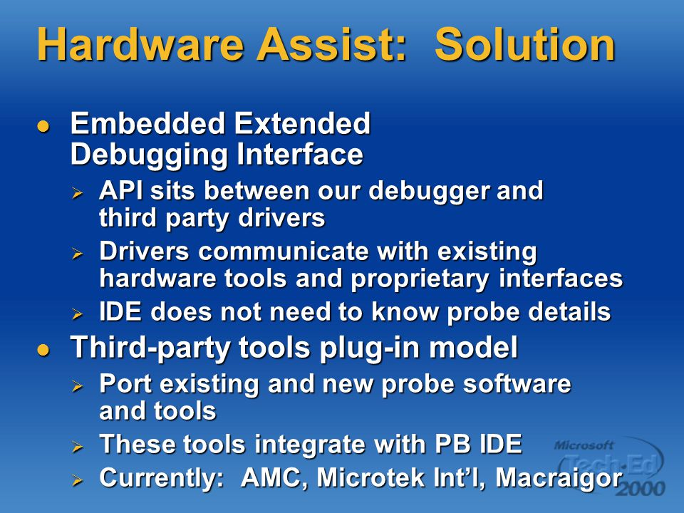 Hardware Assist: Solution