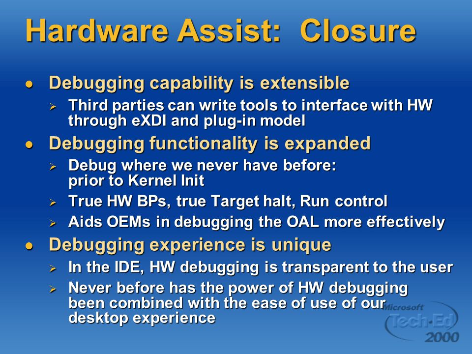 Hardware Assist: Closure