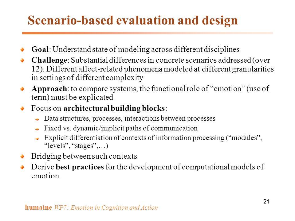 Scenario-based evaluation and design