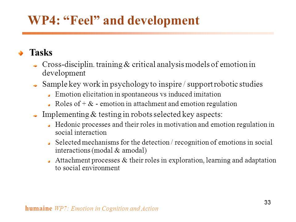 WP4: Feel and development