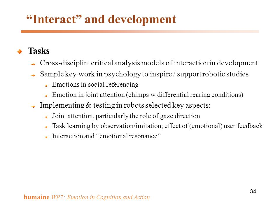 Interact and development