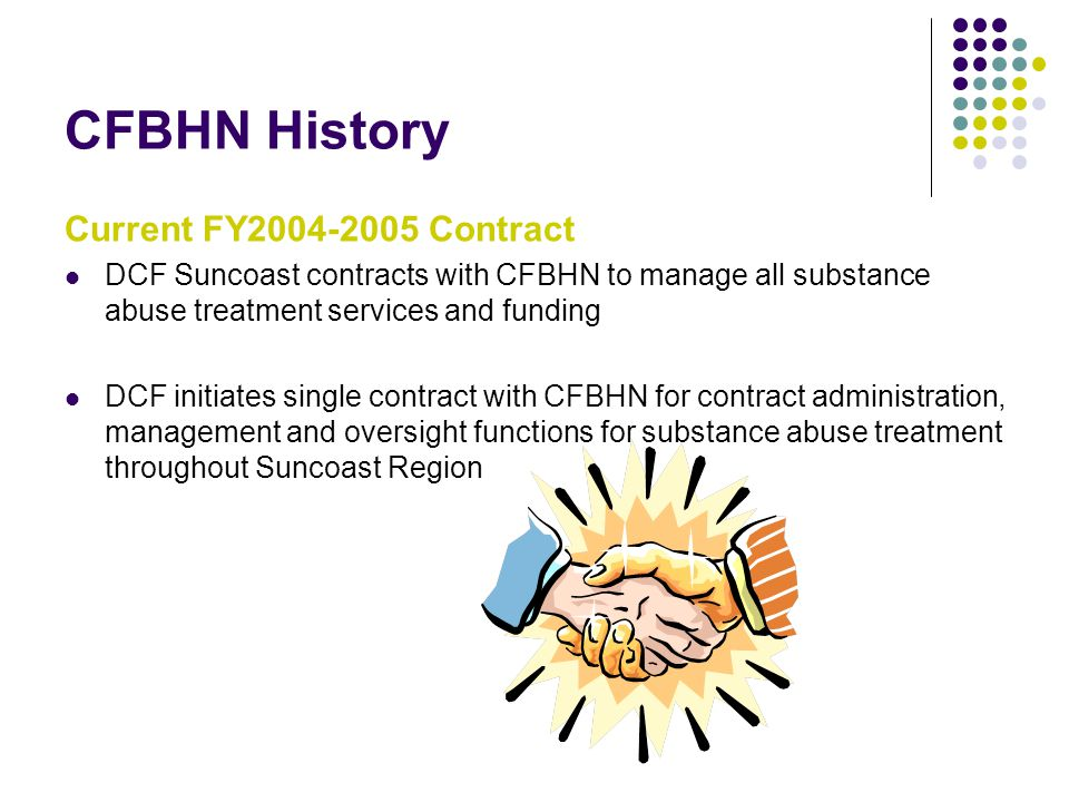 CFBHN History Current FY2004-2005 Contract
