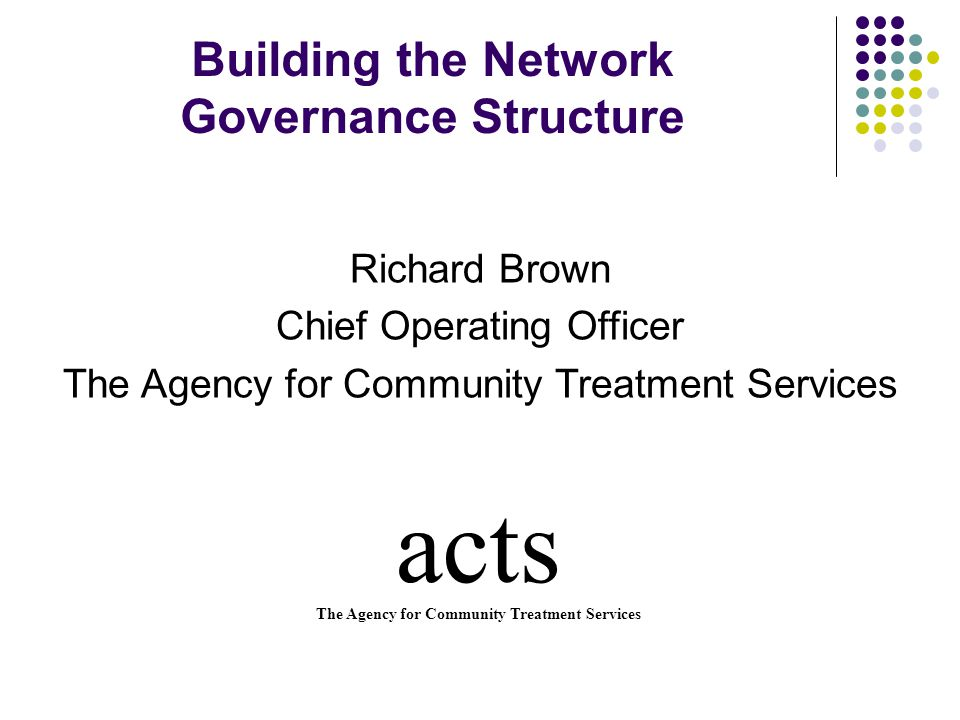 Building the Network Governance Structure