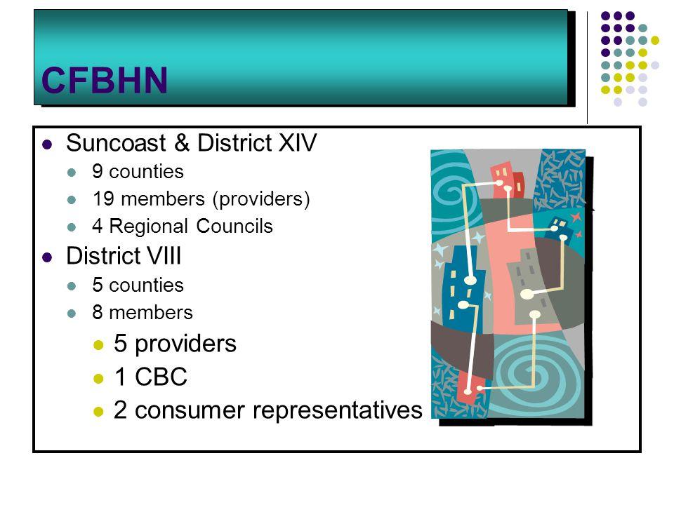 CFBHN 5 providers 1 CBC 2 consumer representatives
