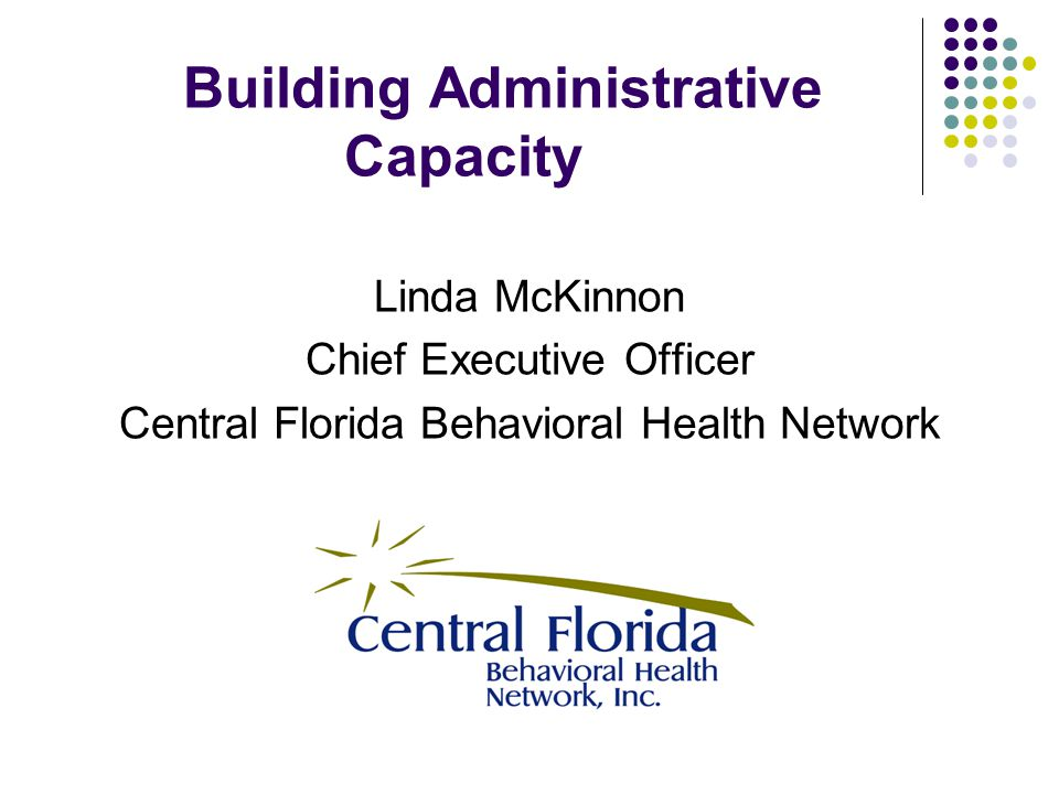 Building Administrative Capacity