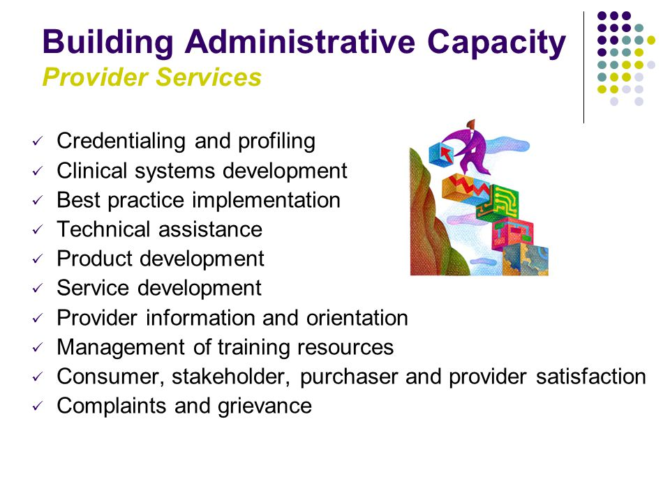Building Administrative Capacity Provider Services