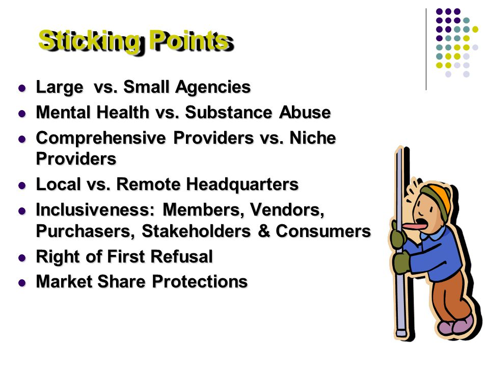 Sticking Points Large vs. Small Agencies