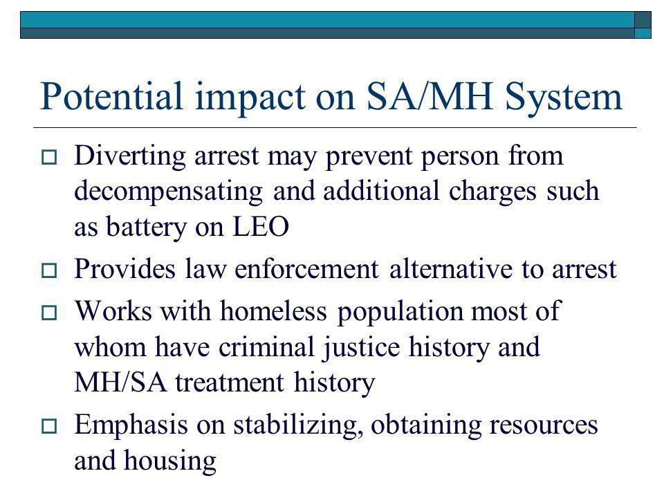 Potential impact on SA/MH System