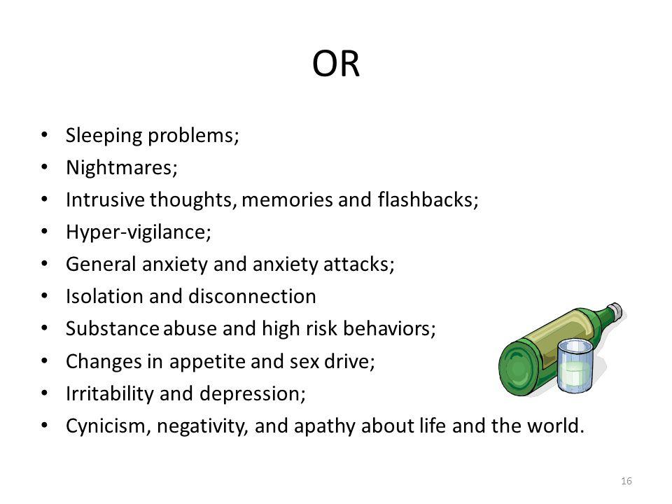 OR Sleeping problems; Nightmares;