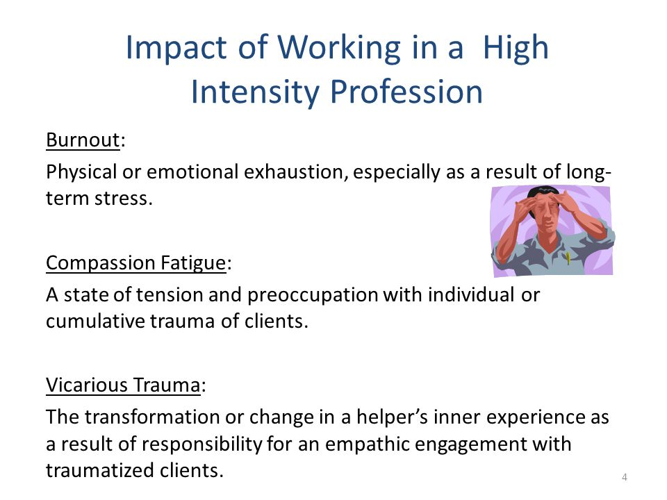 the threat of compassion fatigue among healthcare workers and caregivers