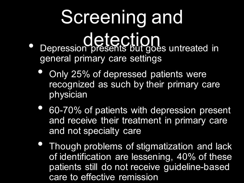 Screening and detection