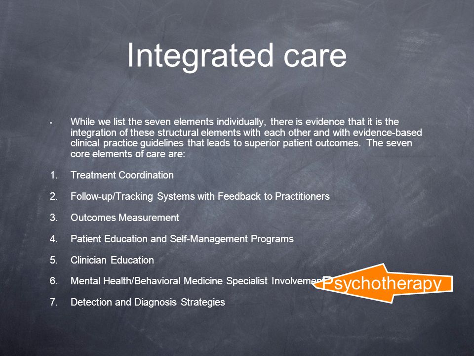Integrated care Psychotherapy