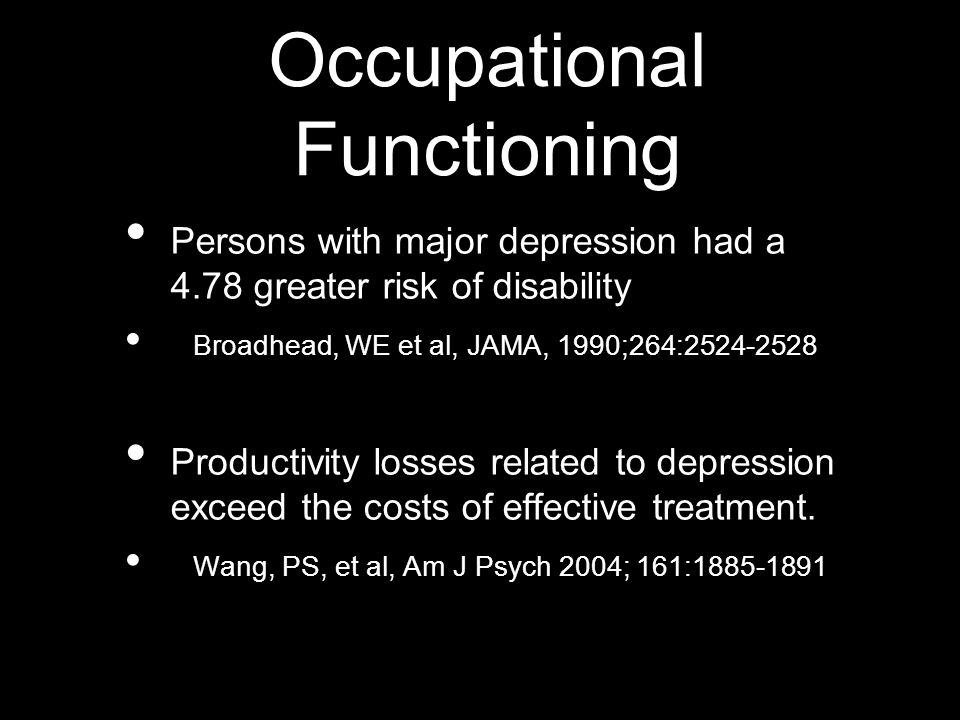 Occupational Functioning