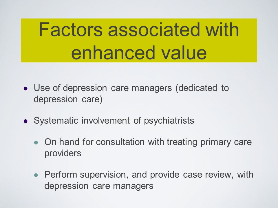 Factors associated with enhanced value