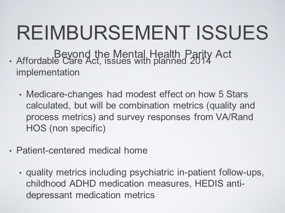 Beyond the Mental Health Parity Act