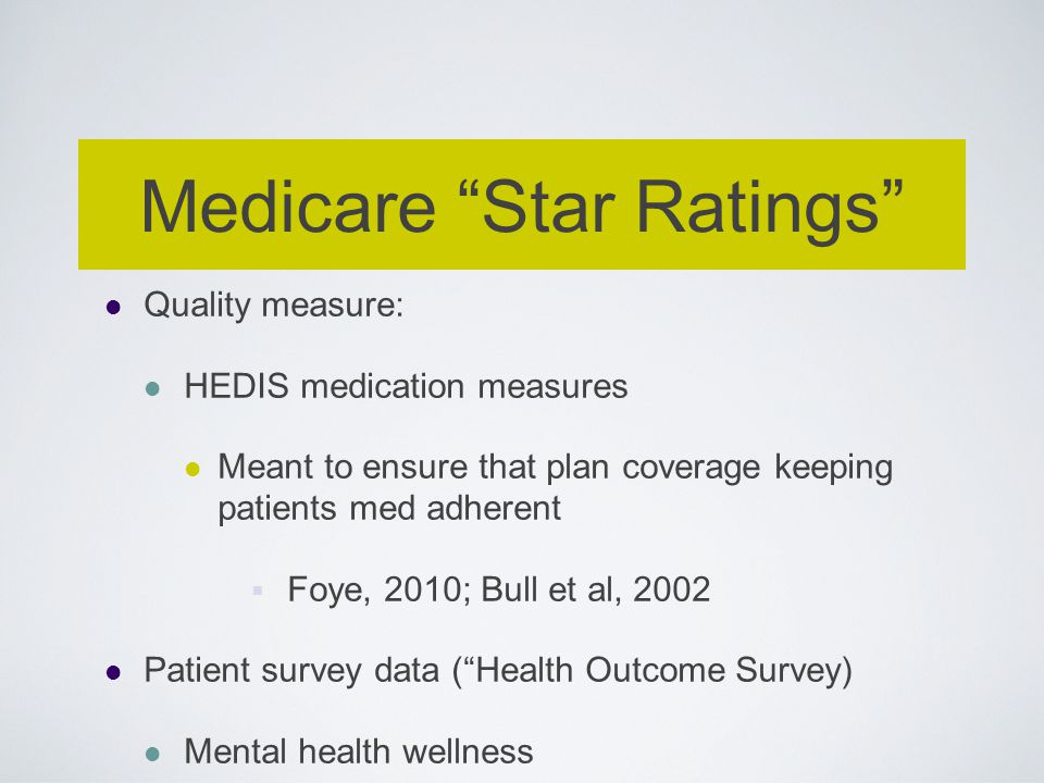 Medicare Star Ratings