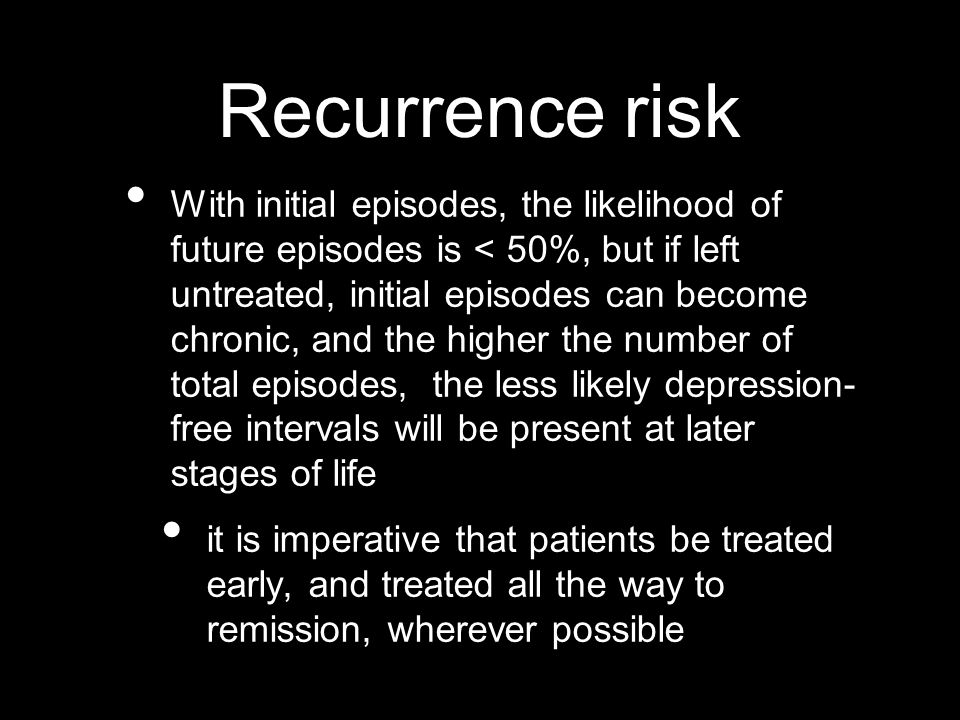 Recurrence risk