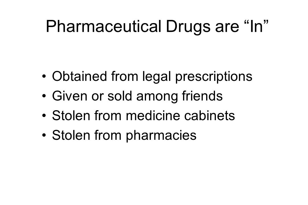 Pharmaceutical Drugs are In