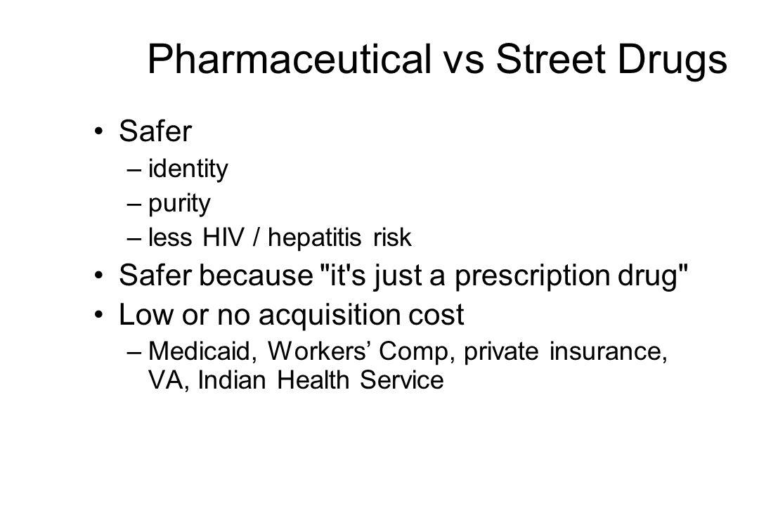 Pharmaceutical vs Street Drugs