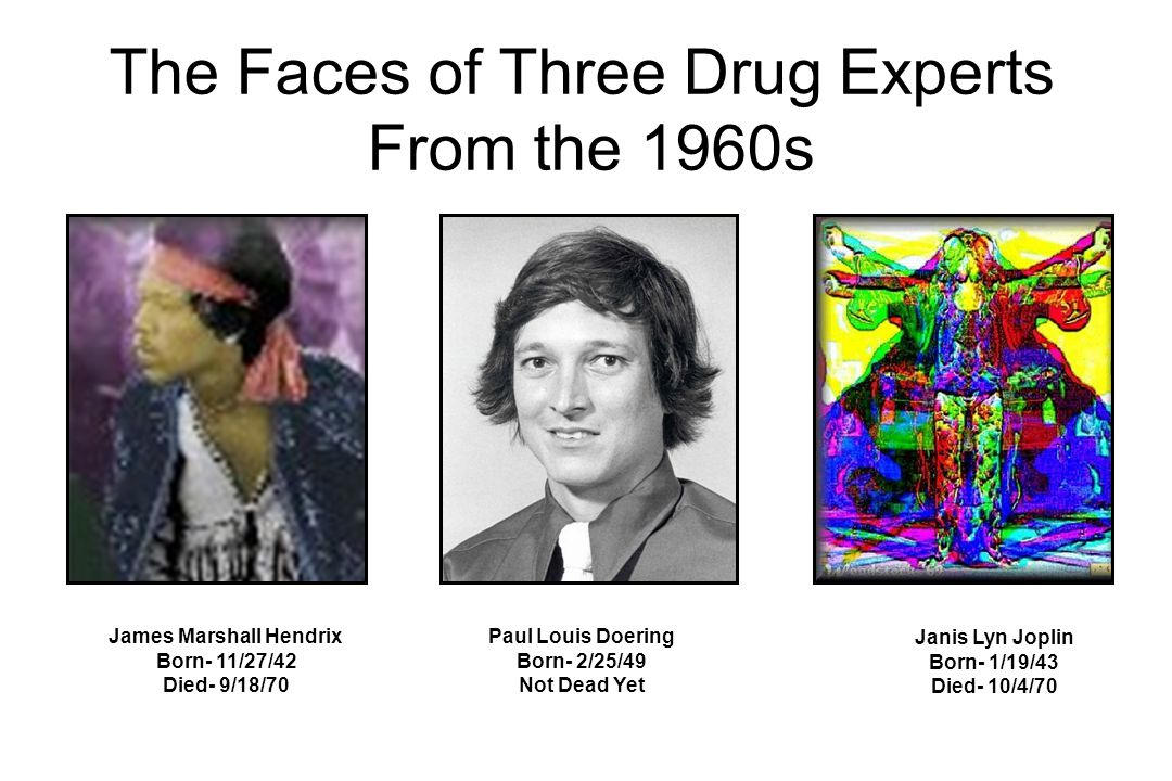The Faces of Three Drug Experts From the 1960s