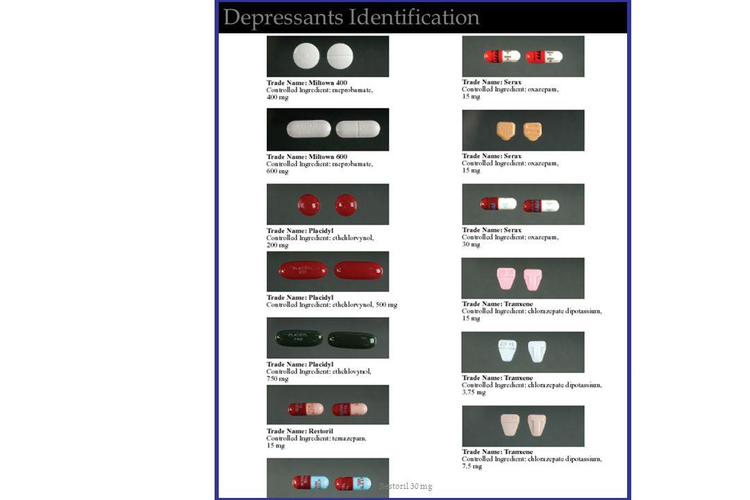 Depressants Identification