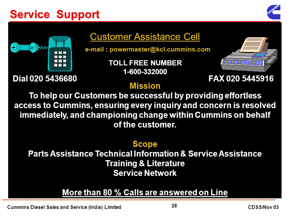 Service Support Customer Assistance Cell Dial
