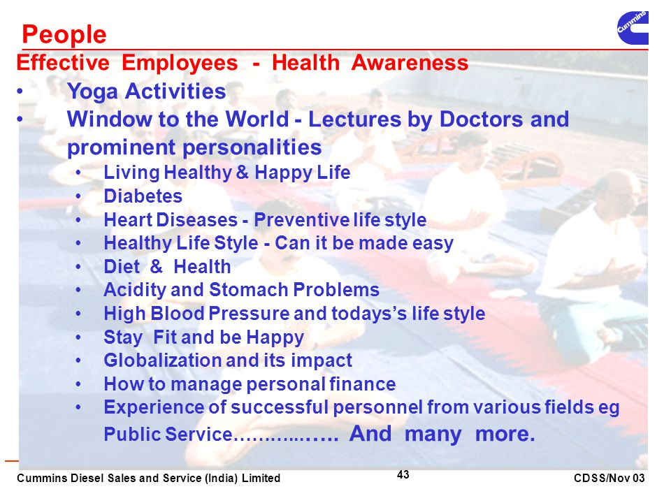 People Effective Employees - Health Awareness Yoga Activities