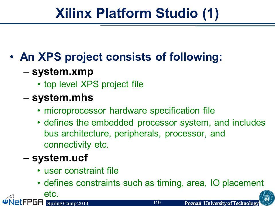 Xilinx Platform Studio (1)